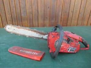 "Vintage HOMELITE XL-76 Chainsaw Chain Saw with 16"" Bar"