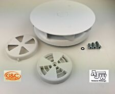 Rotary Wind Driven White Roof Vent Vans Trucks HORSEBOXES 4x4 Low Profile Turbo3