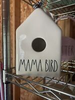 "Rae Dunn ""Mama Bird"" Birdhouse Checkered Ribbon"