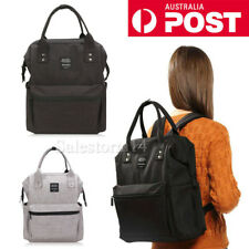 NEW BLACK LAND Multifunctional Baby Diaper Backpack Changing Bag Nappy Mummy AU