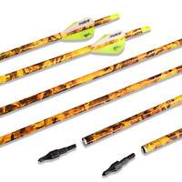 "30"" Carbon Arrows SP600 Archery 100gr Arrowhead Recurve Bow Compound Bow Hunting"