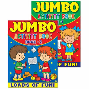 Jumbo Activity Book - A4 Large Fun Kids Childrens Colouring Journeys Books