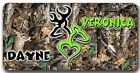 CUSTOM! Green Camo Ultimate Deer Heart design with YOUR name - License Plate