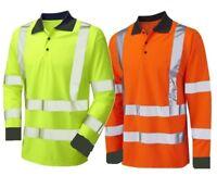 Long Sleeve Polo Shirt Hi Visibility Yellow or Orange Hi Viz Class 3