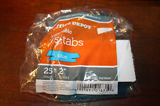 Office Depot Insertable Plastic Tabs, 1/5 Tab, 2 Inch, Blue Tab, 25/Pack