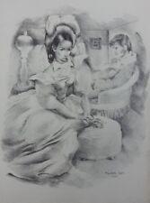 Mariette LYDIS : Jeune Fille assise - GRAVURE - Signée - 1947
