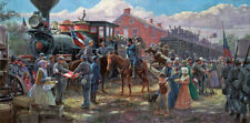 """Victory Road the Rails"" by Mort Kunstler Military L/E signed Print"