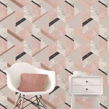 marblesque geometrisch Marmor Tapete rosa rotgold - feine Dekor fd42303