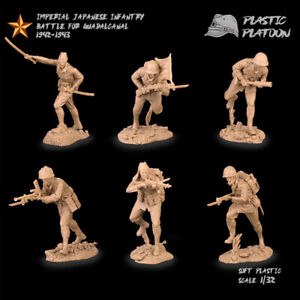 Plastic Platoon Toy Soldier Imperial Japanese Infantry Battle For Guadancanal