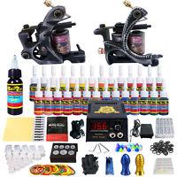 Solong Tattoo Complete Tattoo Kit 2 Machine Gun 28 Ink Needle Power Supply TK224