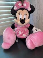 Minnie Mouse Plush Disney Park Pink Disney Stuffed Animal 20 in