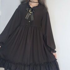 Gothic Lolita Dress Girl Ruffles Japanese Puff Sleeve Cosplay Retro Cute