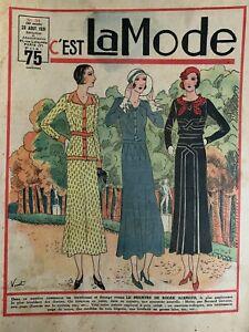 Vintage French C'EST LA MODE Magazine Aug 23, 1931 - Fashion & needlecraft