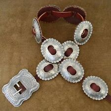 Navajo Copy JIM MORRISON Hand Hammered Distressed Silver First Phase Concho Belt
