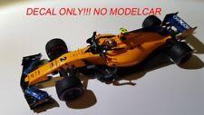 DECAL mclaren mcl33  2018 Vandoorne Alonso Champagne 1/43 F1 spark minichamps