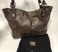 New FRYE Melissa Shoulder Leather Handbag Tote DARK BROWN  $350