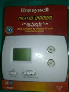 Honeywell RTH3100C  1002 Digital Non-Programmable Heat Pump Cooling Thermostat