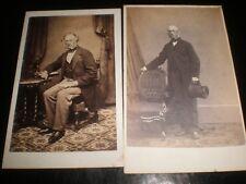 2 Cdv old photographs John Macfarlan Faslane London & Glasgow 1860s rf 18z4