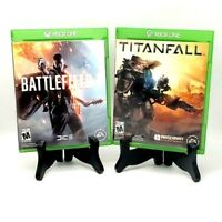 Battlefield 1 & Titanfall Xbox One XBOne Complete Tested Mint 2-Game Lot Bundle