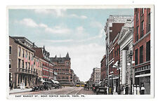York Pa East Market Street Near Center Square Vintage M. J. Shambaugh Postcard