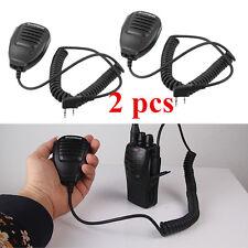 2xHandheld Pofung Baofeng Uv-5R V2+ Bf-F8+ Wp970 Speaker Mic Walkie Talkie Radio