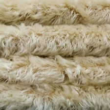 """1/6 yd 785S/C Oyster w/ Dk Bk Intercal 3/4"""" Med Dense Curly German Mohair Fabric"""