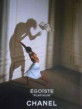 PUBLICITE   PARFUM EGOISTE PLATINIUM de CHANEL    en  1996  Ref. 5414