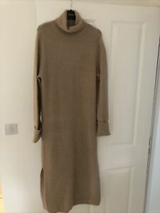 Asos High Neck Knitted Maxi Dress Size 10