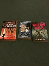 Three Paperback Novels by James Patterson/Sji Holliday/Kathy Reichs.