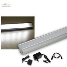 6 Set LED Profilo angolare alluminio bianco freddo + trasformatore