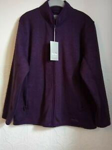 Women's Peter Storm jacket, zip through, purple polyester jersey, size 20, BNWT