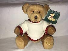 2002 Harrods Teddy Bear With Tag Xmas Christmas Named Giles