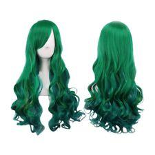 Dark green lady wig dark green long curly wig Long Hair 68CM wig for Women  D7Q6