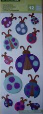 NEW 12 pc LADYBUGS Ladybirds Ladybug Insects STUDIO 112  K & CO  Epoxy Stickers