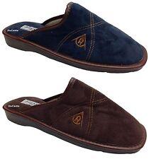 Dunlop Azul Marino Marrón Zapatillas Pantuflas Invierno Textil cómodo de salón