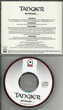 TANGIER On the Line RARE RADIO PROMO DJ CD single 1989 HEAVY METAL HAIR BAND