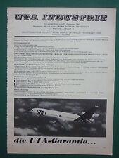 6/1975 PUB COMPAGNIE AERIENNE UTA  INDUSTRIE AIRLINE DC-10 AIRLINER GERMAN AD
