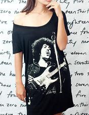 Phil Lynott Thin Lizzy Punk Rock WOMEN T-SHIRT DRESS Tank TOP Tunic Size S M L