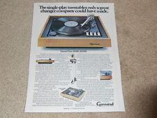 Garrard ZERO 100sb Turntable Ad, 86sb, Article, How it Works, 1 pg, 1974