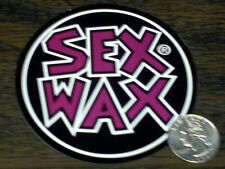 "Purple SEX WAX Surf Sticker MR ZOGS Car Decal 3-1/2"" Round Board Vinyl Roxy 9 cm"