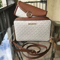 Michael Kors Women Crossbody Messenger Leather Shoulder Purse Handbag bag+Wallet