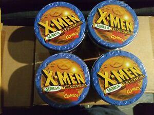 1993 Marvel X-Men Uncanny Series 2 Set Tin Lot of(4) Missing wolverine holo only