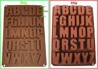Buchstaben ABC groß - Extra Stabil - Silikonform Schokoladenform Backform