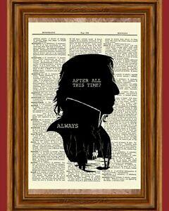 Severus Snape Harry Potter Dictionary Art Print Picture Always Alan Rickman