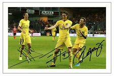 NEYMAR JR EDISON CAVANI DI MARIA PARIS ST GERMAIN SIGNED PHOTO PRINT SOCCER PSG