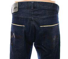 WESC Marwin Mens Raw Denim Yellow Line Selvedge 5 Pocket Jeans 32 x 27 Inseam