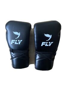 *Worn Once Literally*fly boxing gloves 18oz black lace upsBasically New