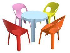Resol Rita set infantil de 4 1 1 mesa azul 4 sillas Roja/rosa/naranja/lima