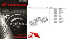 HONDA VALKYRIE GL1500 GL1500C FACTORY SERVICE MANUAL PARTS CATALOG  97-03