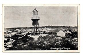 OLD POSTCARD BUNBURY LIGHTHOUSE AUSTRALIA